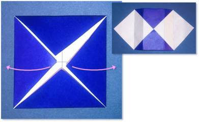 Langkah - langkah dalam membuat origami kotak