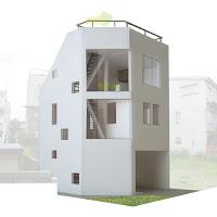 「たてにわ」が息吹を吹き込む狭小都市型住宅