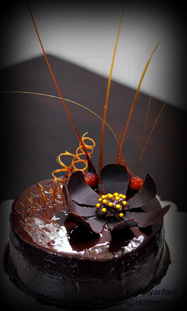 Chocolate Glaze Cake Decoration : Few Recent Cakes - A Homemaker s Diary