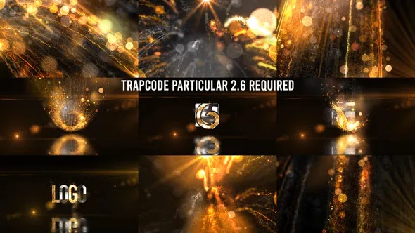 Videohive Glowing Particals Logo Reveal 36 Golden Particals 12 27018084