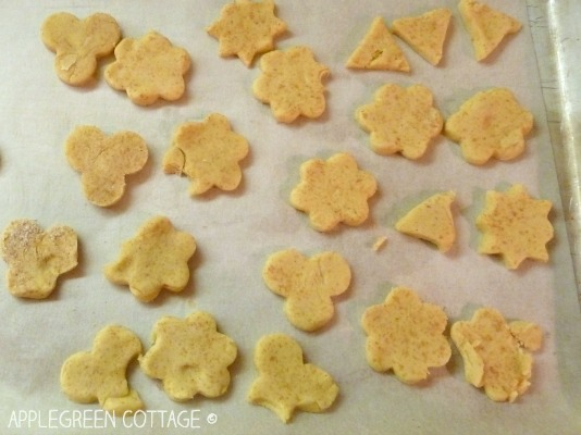 cut cookies from cookie dough