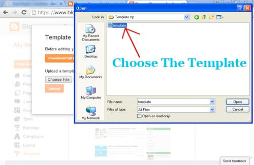 blogger xml template