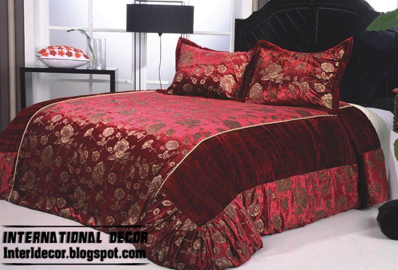 Modern Red Duvet Cover Set Dark Covers Style