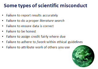 CRG, Barcelona: research misconduct by points performed