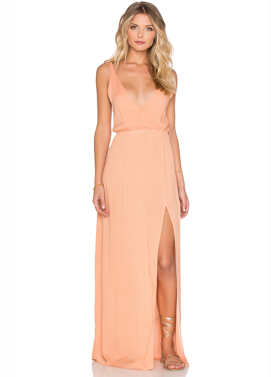 Blue Life High Tide Maxi Dress in Papaya