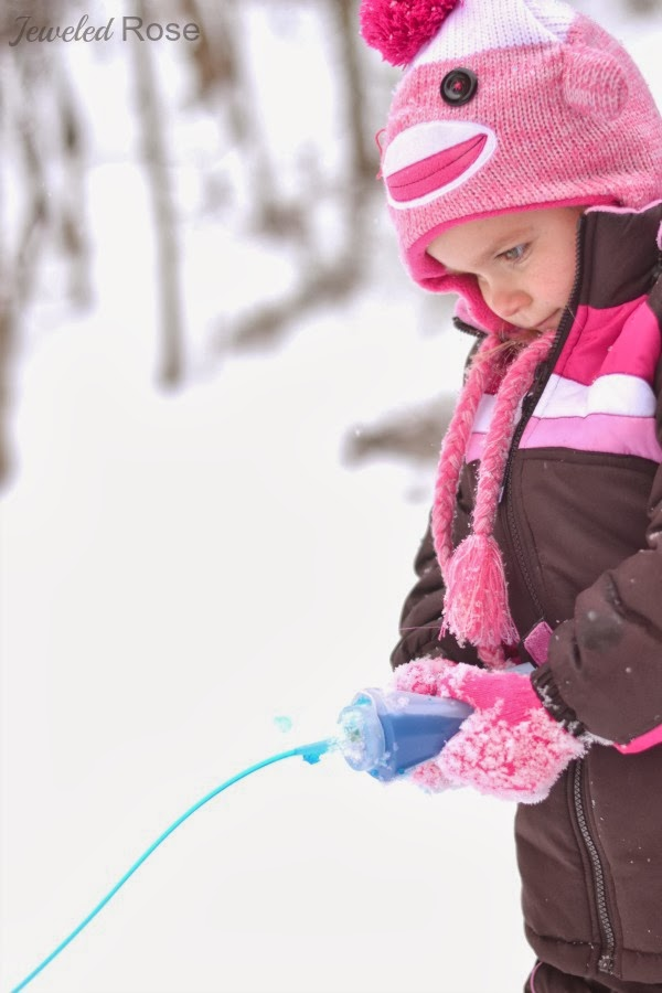 SQUIRTY SNOW PAINT - my kids love this stuff!  (only 2 ingredients!)