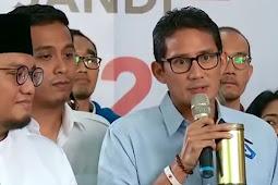 Sandiaga Uno: Perjuangan Prabowo Sandi bukan menang kalah