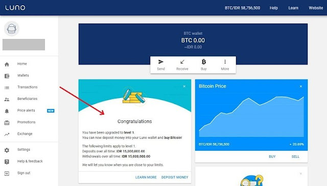 Cara Membuat Wallet Luno dan Mendapatkan Bonus Bitcoin Gratis