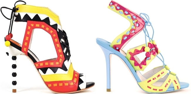 Sophia Webster colorful aztec sandals