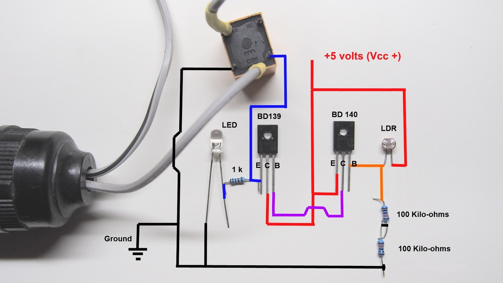 9 volt led wiring diagram