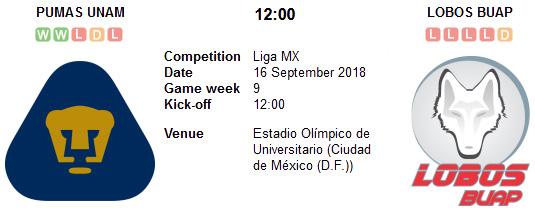 Pumas UNAM vs Lobos BUAP en VIVO