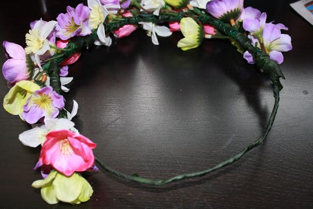 DIY Flower Crown Steps