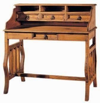 Escritorio rustico, escritorio salon, mesa secreter