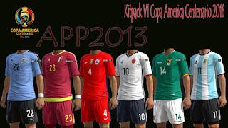 Kitpacks Copa America Centenario 2016 PES 2013