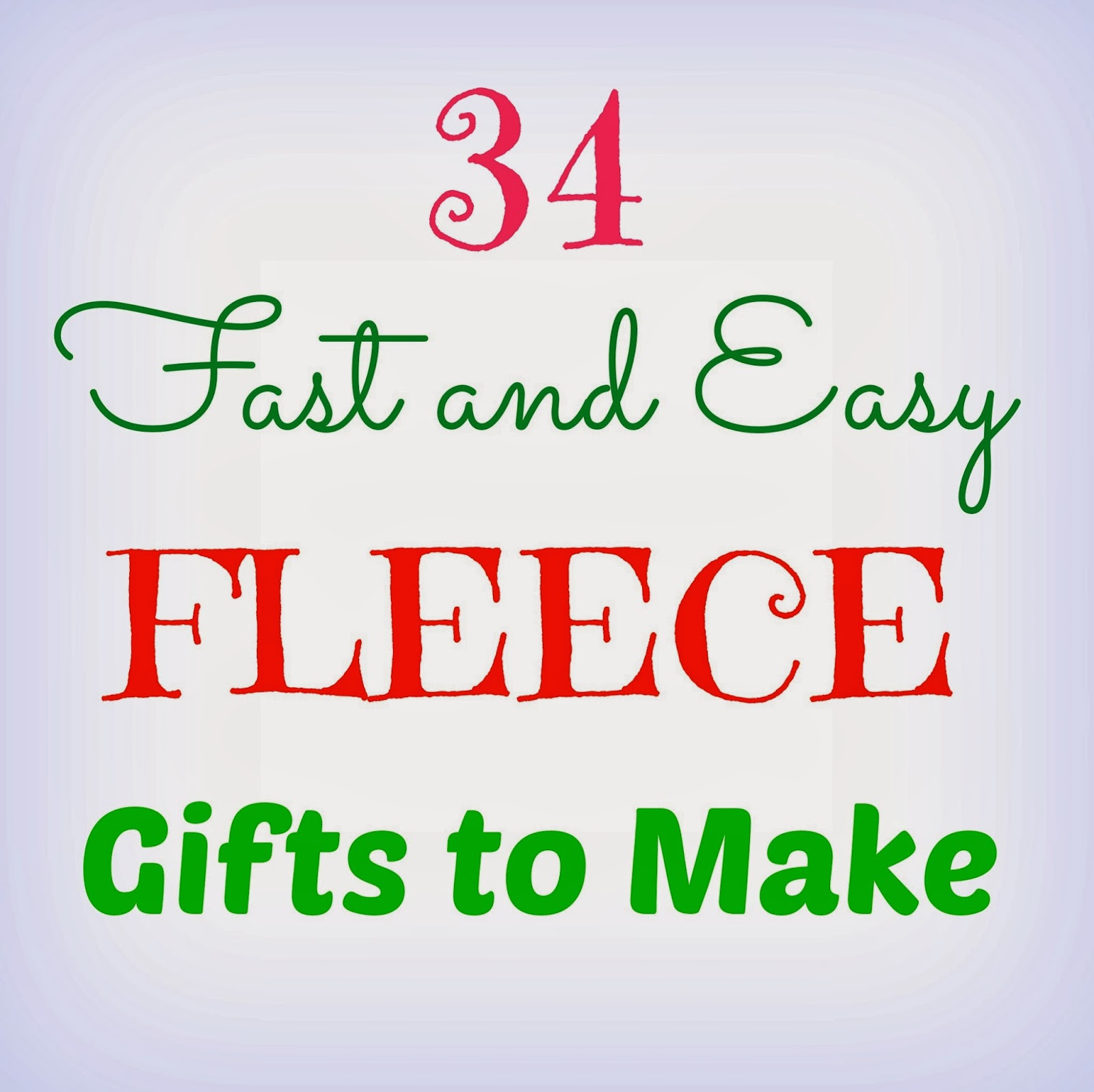 34 Fast and Easy Fleece Gifts to Make - Crafts a la mode