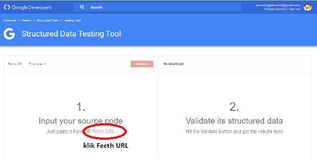 google struktur data testing tool