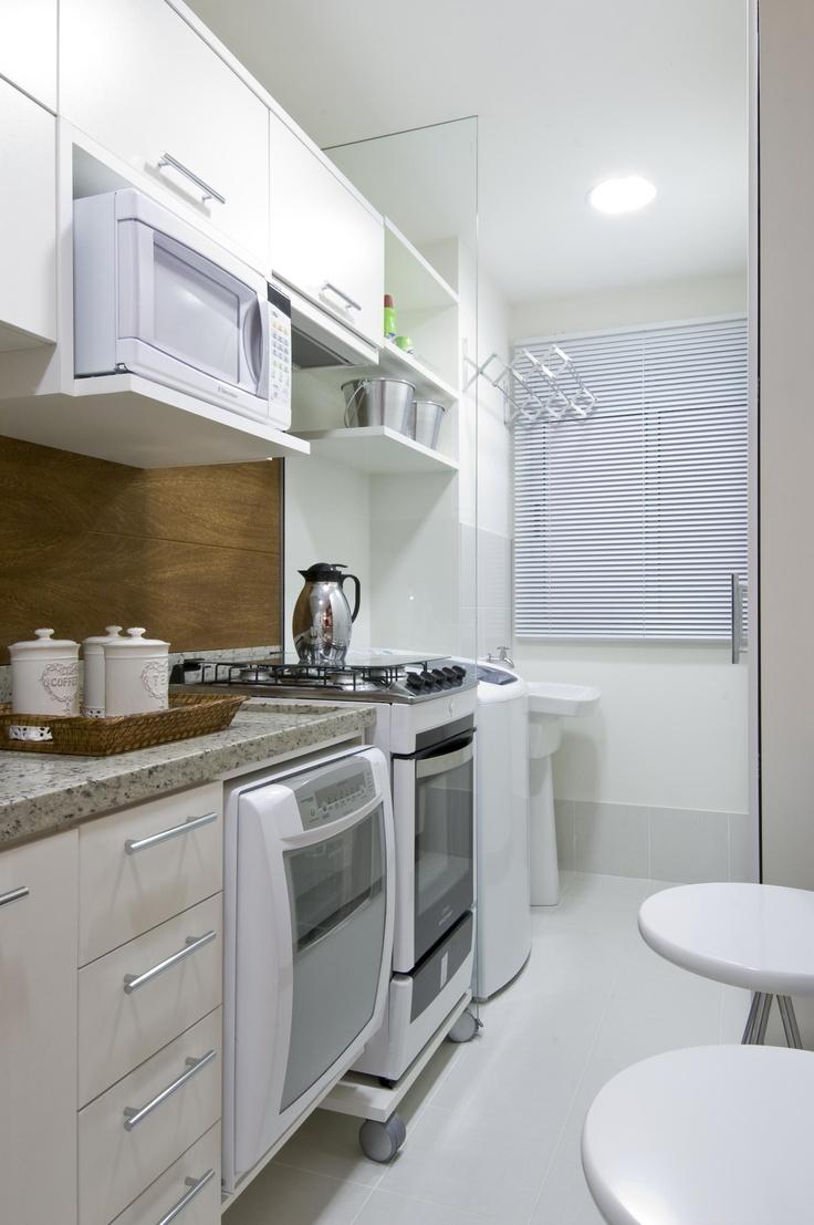 Cozinhas pequenas jeito de casa blog de decora o e for Modelos de mini apartamentos