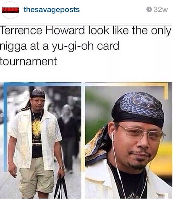 Funny caption about Terrence Howard playing card games.