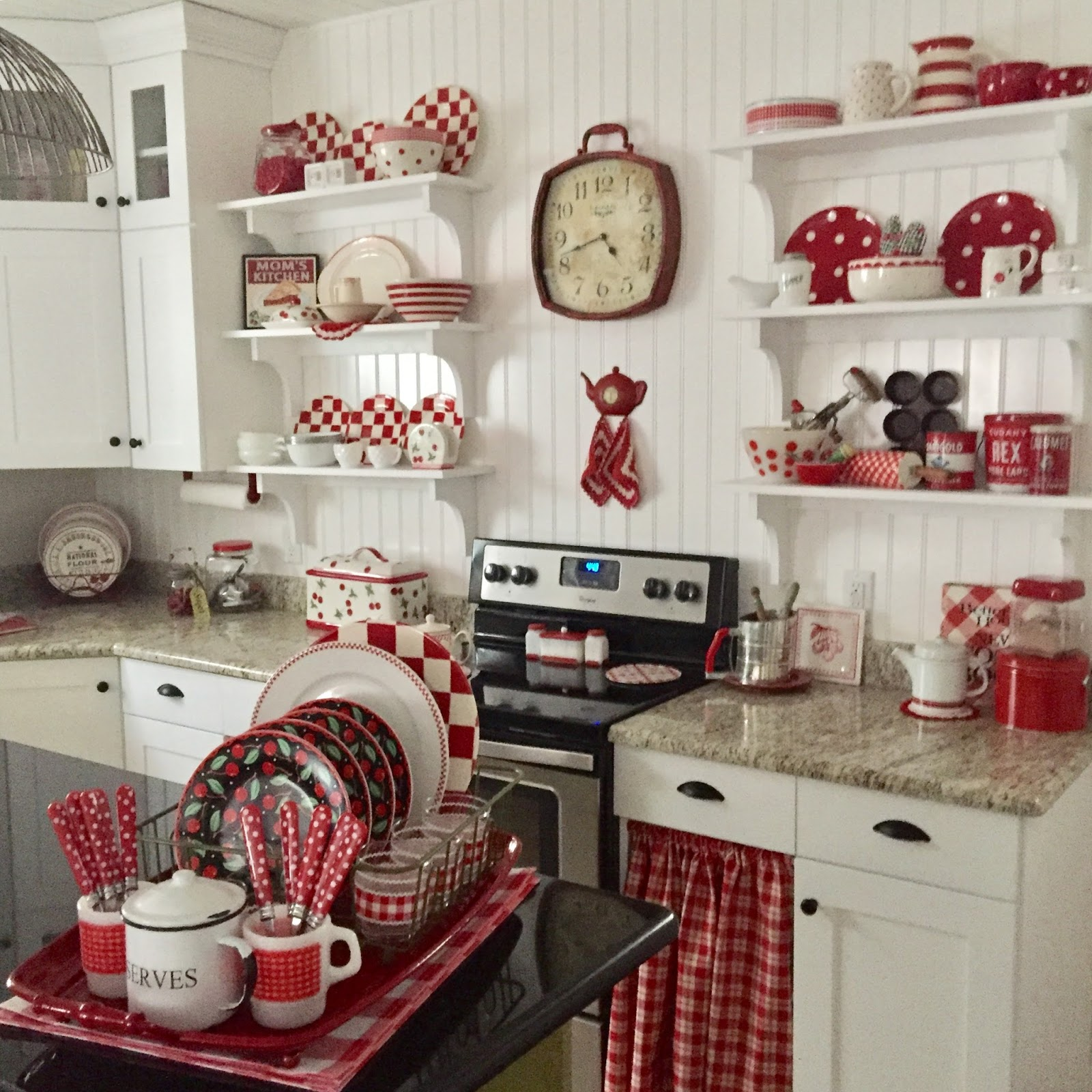exciting red kitchen decor | My Valentine Kitchen. . . - Have a Daily Cup of Mrs. Olson