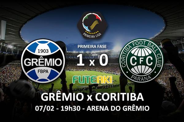 Veja o resumo da partida com o gol e os melhores momentos de Grêmio 1x0 Coritiba pela 2ª rodada da Copa Sul-Minas-Rio 2016.
