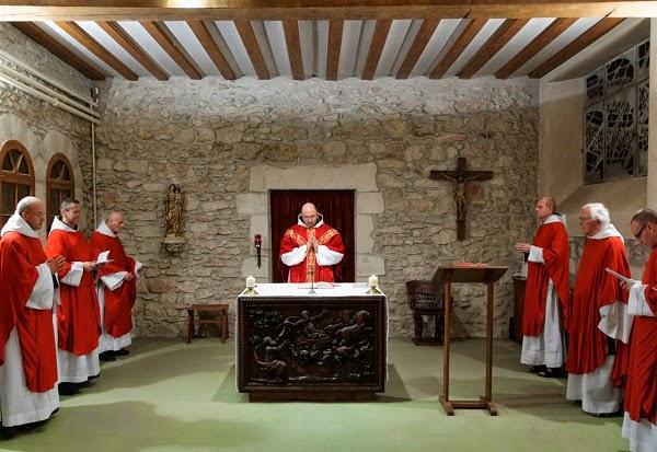 Messe frères Carmes Déchaux Carmes Déchaux Carmel Province Avignon-Aquitaine