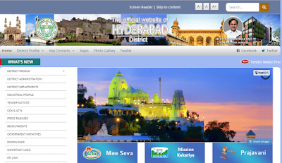 official website of Hyderabad