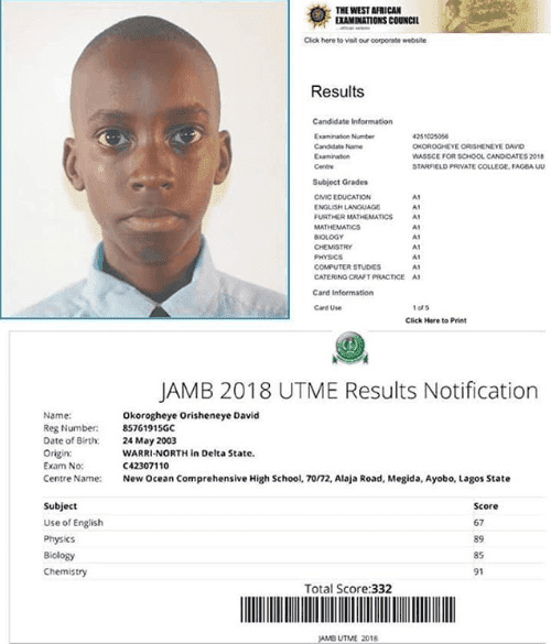Boy Who Scored 332 in JAMB and Got 9A's in WAEC Denied Admission