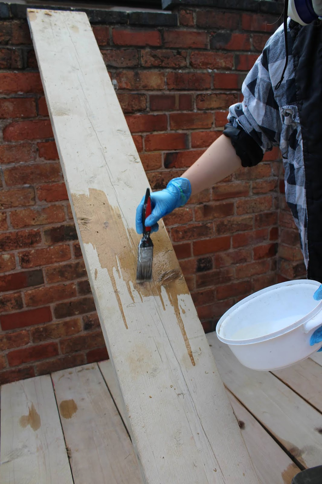 treating scaffold boards for outdoors