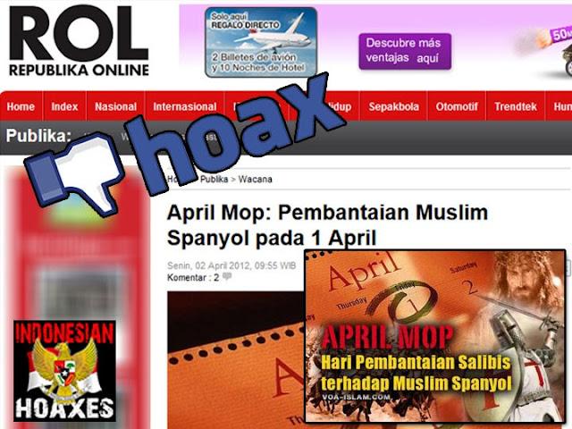 Cerita Hoax, April Mop merupakan perayaan pembataian umat Islam