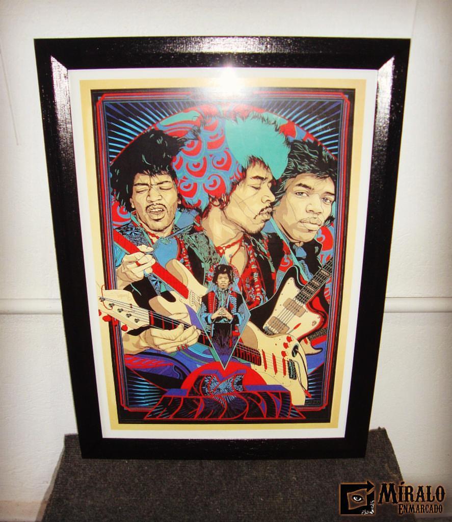 Enmarcado de poster jimi hendrix marco con chanfle - Marcos para posters ...