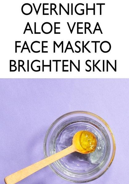 OVERNIGHT ALOE VERA FACE MASK FOR RADIANT AND GLOWING SKIN