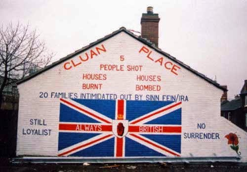 Unionist mural in Northern Ireland