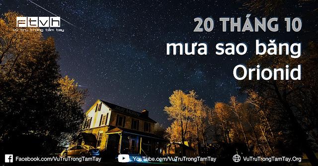 Đón xem mưa sao băng Orionid vào rạng sáng 20/10. Tác giả hình : Matt Molloy.