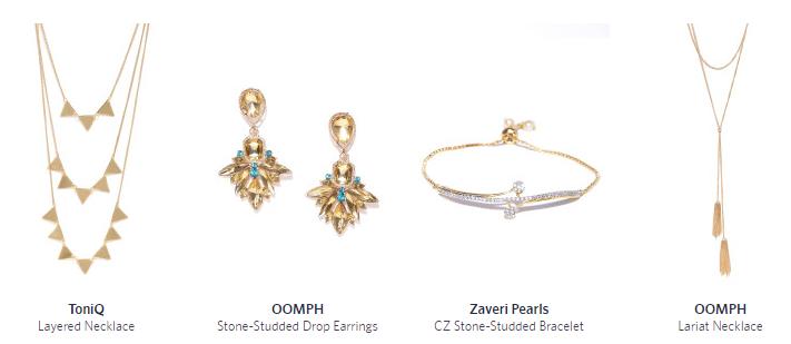 online jewellery myntra
