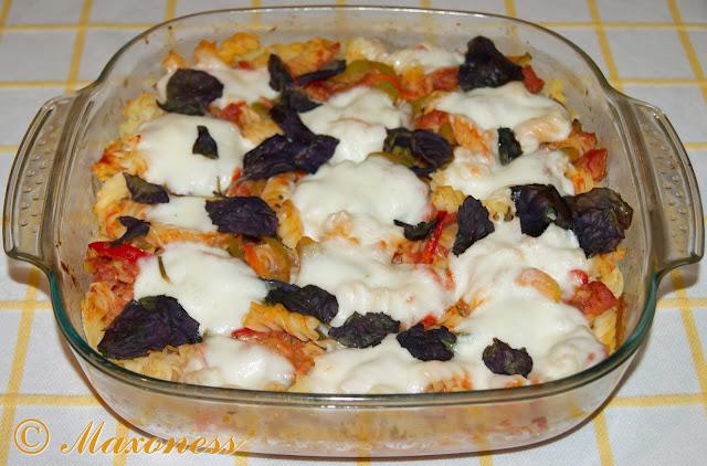 Запеканка с овощами и моццареллой