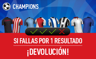 sportium devolucion combinada champions 22-23 febrero
