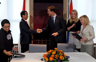 Indonesian President Joko Widodo visits Netherlands