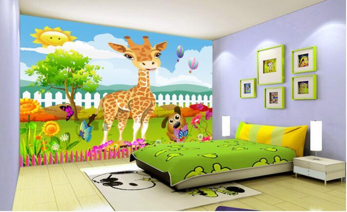 Lukisan hewan hewan lucu dan pemandangan referensi rumah for Mural kartun