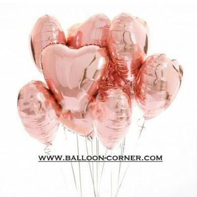 Balon Foil Hati / Foil Love Rose Gold