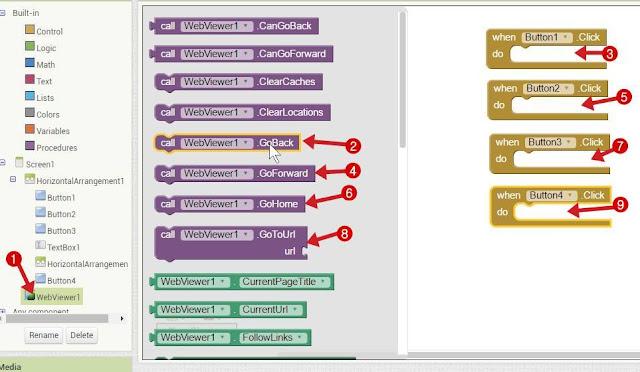Button से WebView Control Block
