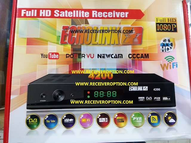 ECHOLINK 4200 HD RECEIVER AUTO ROLL POWERVU KEY NEW SOFTWARE