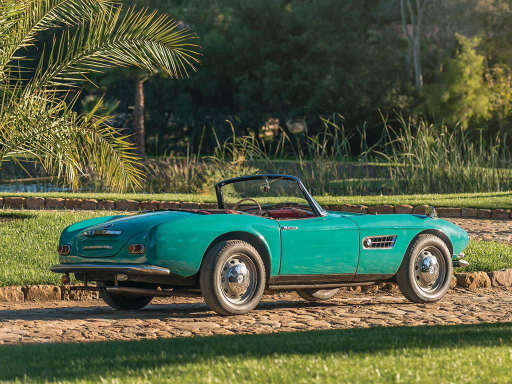 unrestored bmw 507 is a green beauty waiting to be auctioned