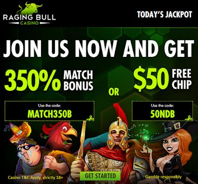 Raging Bull Casino Welcome Offer