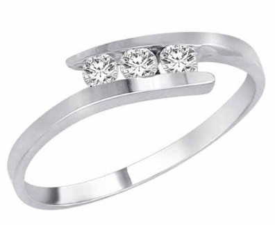 Exclusive 3 Stones Simple Wedding Ring In Price By Divadiamonds