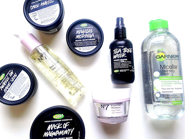 Current Skincare Routine Featuring Lush No.7 Loreal