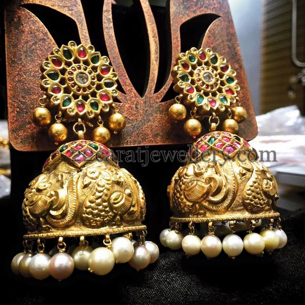 South Indian Jewellery Designs For Brides To Look Drop: Exclusive Kundan Jhumkas By Panicaa