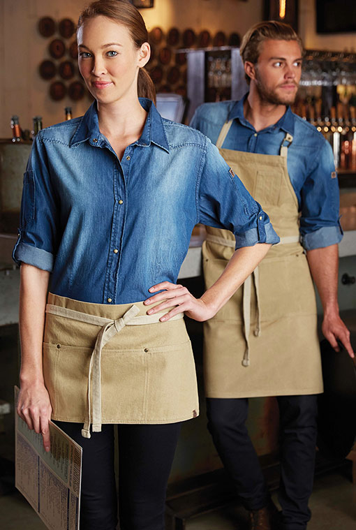 72faaaba Chambray Oxford & Waxed Denim Bistro | The Chef's Emporium Style Book