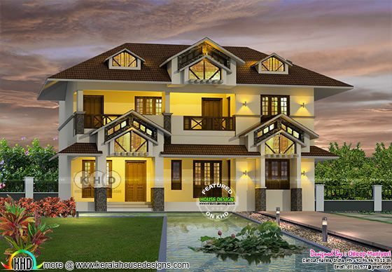 2167 square feet 4 BHK traditional mix Kerala home