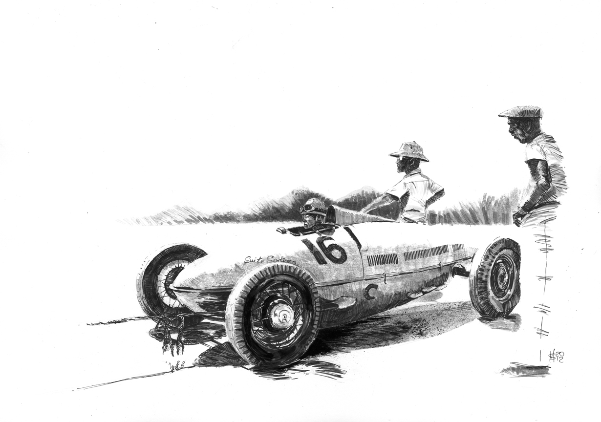 Martin Squires Automotive Illustration Bill Burke And Don