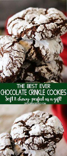 Chocolâte Crinkle Cookies